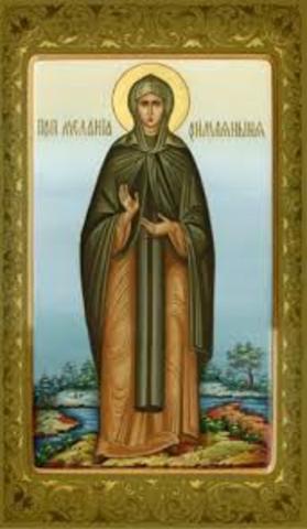 Monacato Romano en Palestina. Melania la Mayor (350-410)