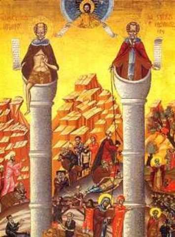 San Simeón el Grande y San Daniel. Estilitas