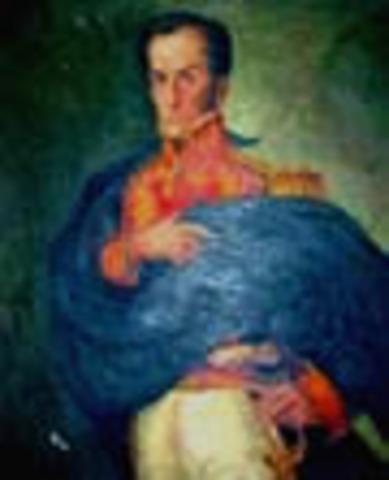 Presidente de la Gran Colombia: Simón Bolivar