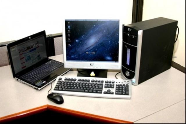 Computador portátil y computador de escritorio