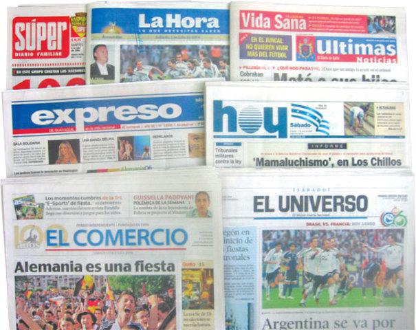 Diarios del Ecuador en la Web