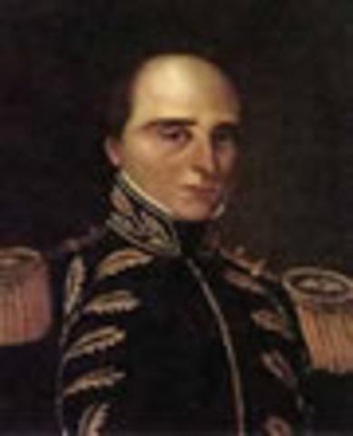 Presidente de la Gran Colombia: Rafael José Urdaneta
