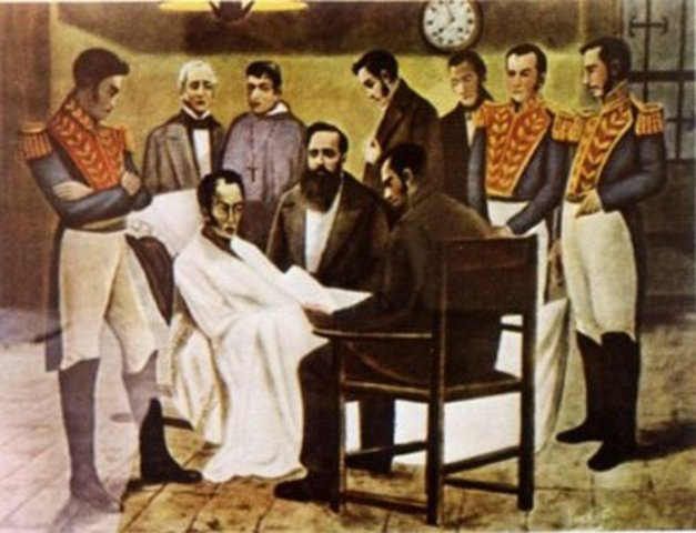 Bolivar presenta su renuncia al gobierno