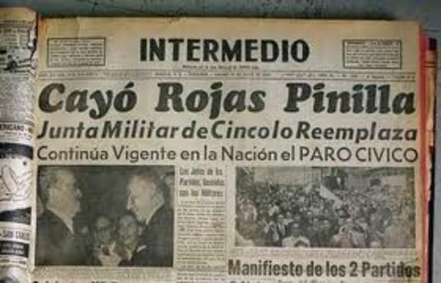 Rojas Pinilla es derrocado