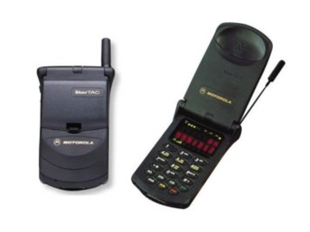 First clamshell phone