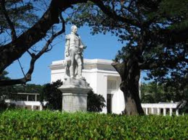 fallecimiento de Simon Bolivar