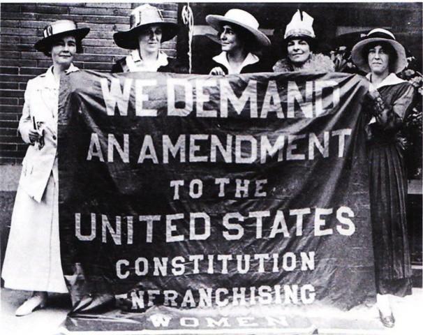 19th Amendment to the U.S. Constitution Grants American Women the Right to Vote