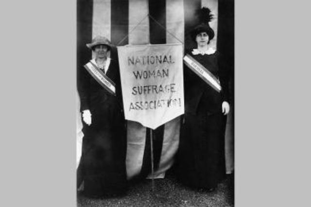 """National Woman Suffrage Association Founded in New York City; Their Motto, """"Men, their rights and nothing more; women, their rights and nothing less!"""""""
