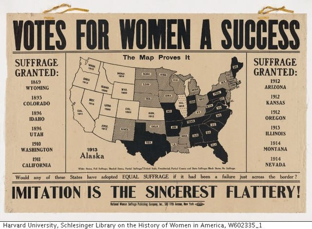 """Wyoming Grants Women the Right to Vote, the First U.S. """"Territory"""" to Do So, Quickly Followed By Territories of Utah and Washington"""