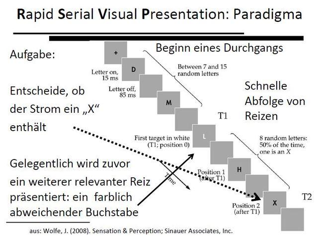 Attentional Blink: Rapid serial visual presentation (RSVP), Shapio