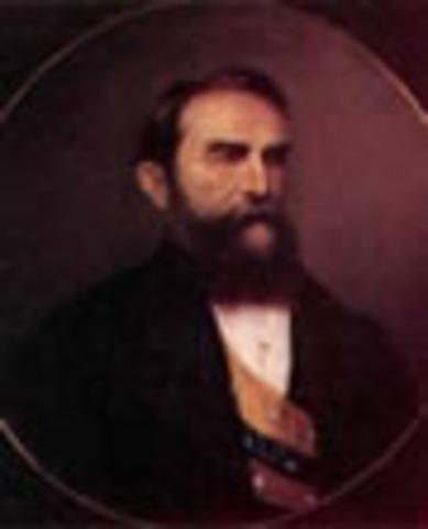 Presidente de los Estados Unidos de Colombia: Rafael Nuñez Moledo