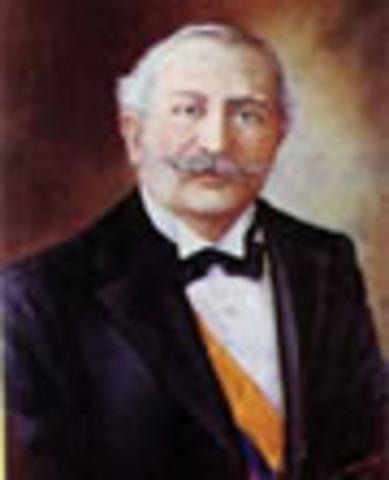 Presidente de la República de Colombia: Rafael Reyes