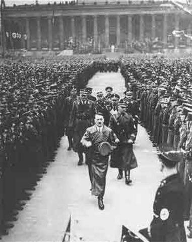 Hitler becomes Supreme Leader ( Fuehrer ) of Germany