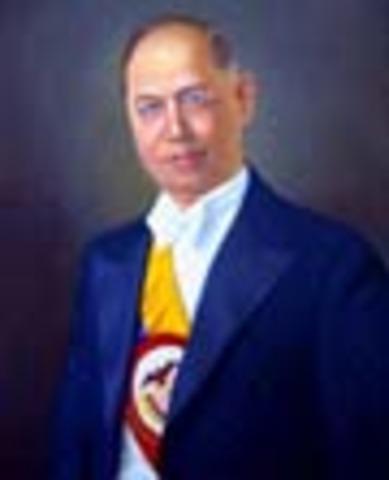 Presidente de la República de Colombia: Enrique Olaya Herrera