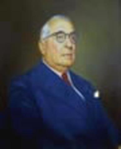 Presidente de la República de Colombia: Alfonso López Pumarejo