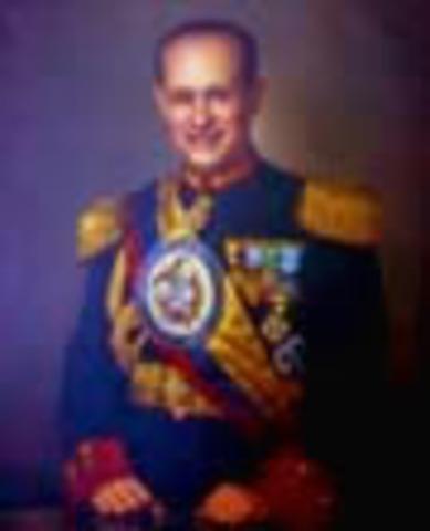 Presidente de la República de Colombia: Gustavo Rojas Pinillas
