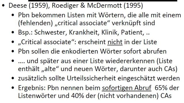 Deese-Roediger-McDermott Paradigma