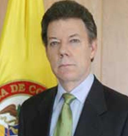 Presidente de la República de Colombia: Juan Manuel Santos