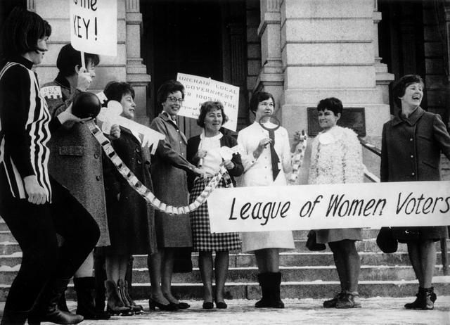 League of Women Voters (LWV) Founded By Carrie Chapman Catt in Washington, D.C.
