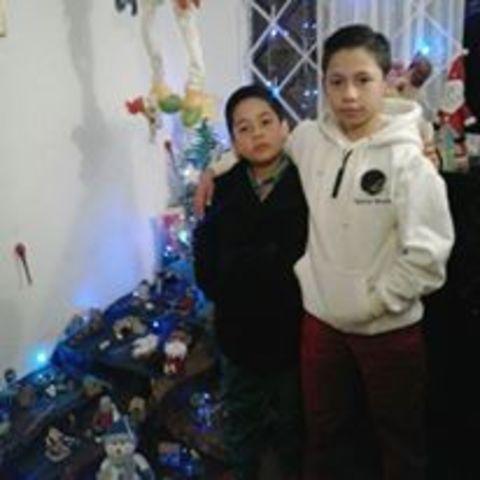 Navidad con mis primos de parte de papa