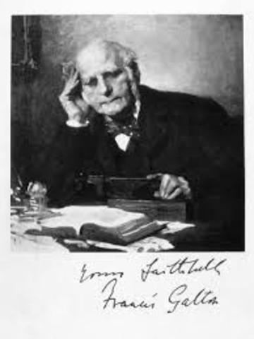 Francis Galton (1822-1911). Inglaterra.