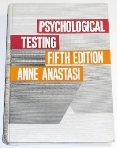 Anne Anastasi (1908-2001). EUA.