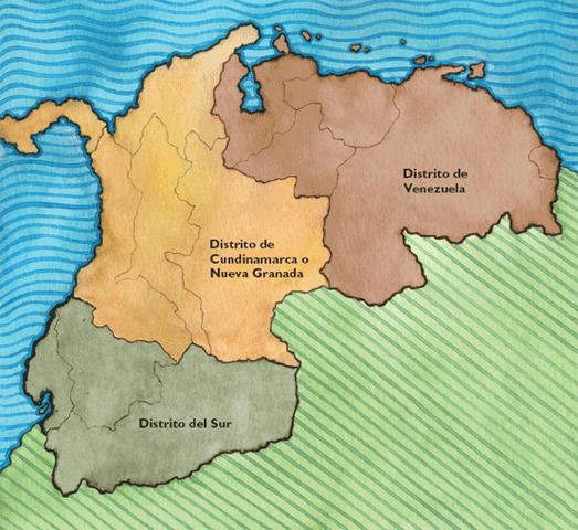 La consolidación de la República de Colombia (Gran Colombia).
