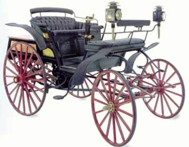 Automovil por ruedas de Friccion .1889