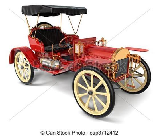 Automovil con freno de cuatro ruedas .1910
