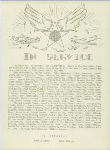 Lakewood Men in Service WWII 1943