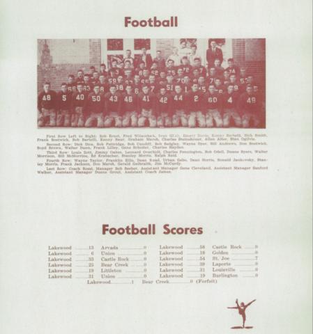 Lakewood Football 1943-1944