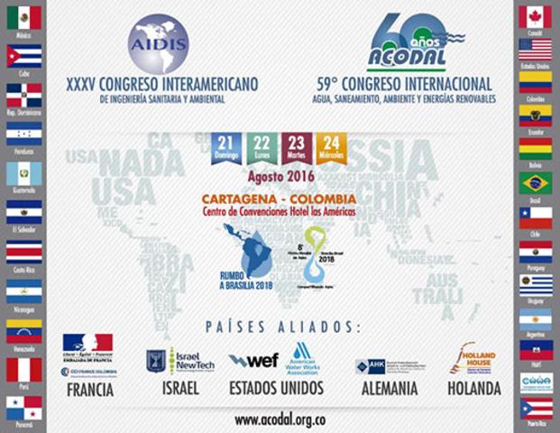 Asociación Interamericana de Ingeniería Sanitaria y Ambiental-AIDIS y ACODAL: Cartagena, Colombia, 21-24 de Agosto