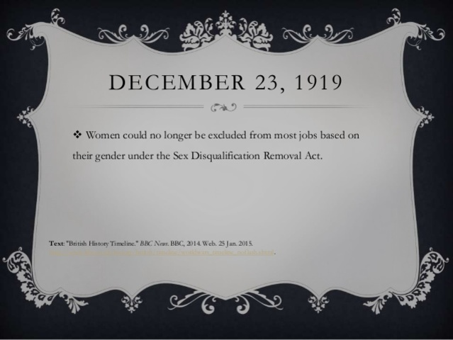 Sex Disqualification (Removal) Act 1919