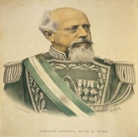 Presidencia de Julio A. Roca 1880-1930