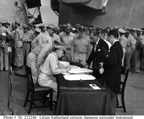 Formal Surrender of the Japanese of World War II