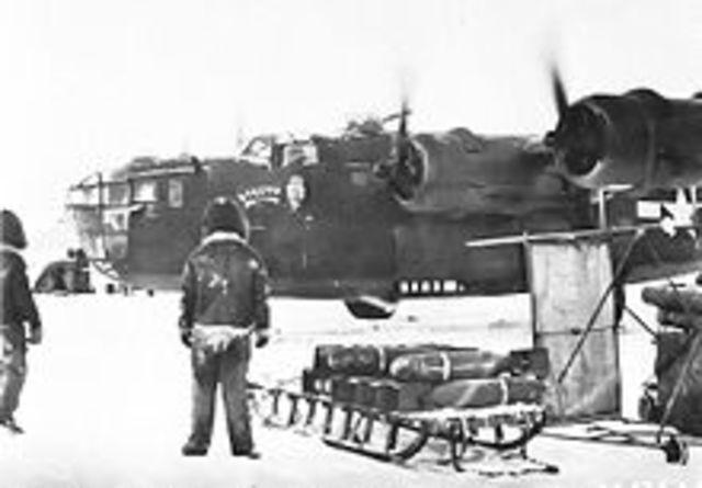 1st Bombers Land on Amchitka Island