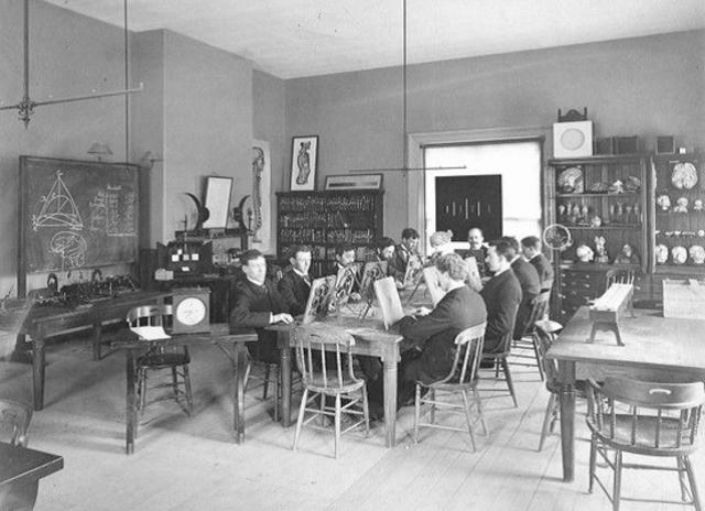 William James fundó un laboratorio en la Universidad de Harvard.