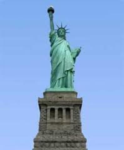Statue of Liberty Dedicated in NYC Harbor