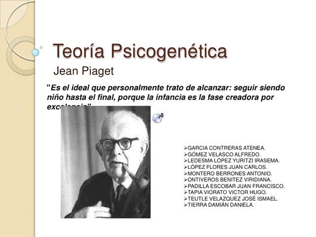 Piaget plantea su teoría psicogenetica de la adquisición de las inteligencias