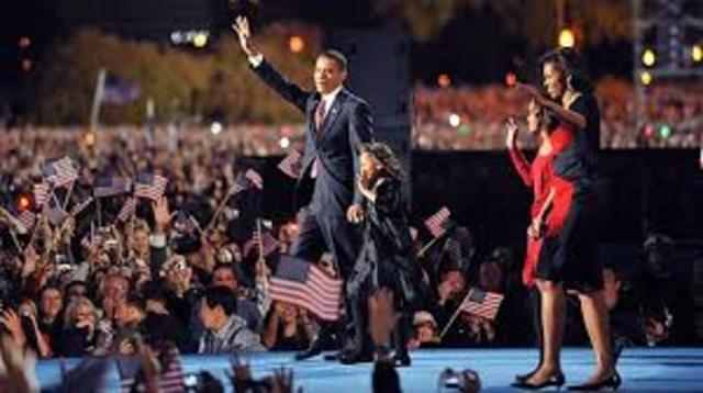 Obama wins the presidency