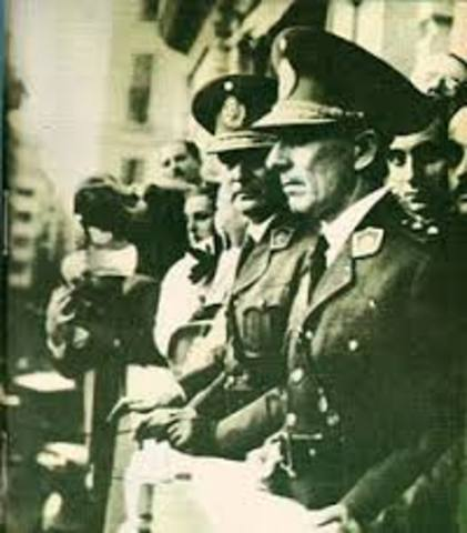 golpe militar por la GOU(grupo de oficiales unidos)