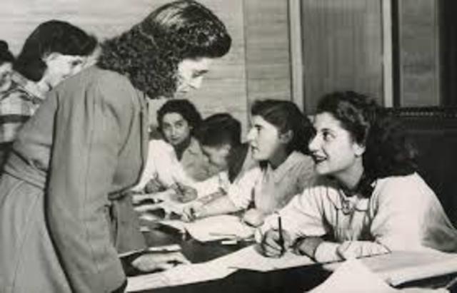 La firma de la ley  voto de mujer
