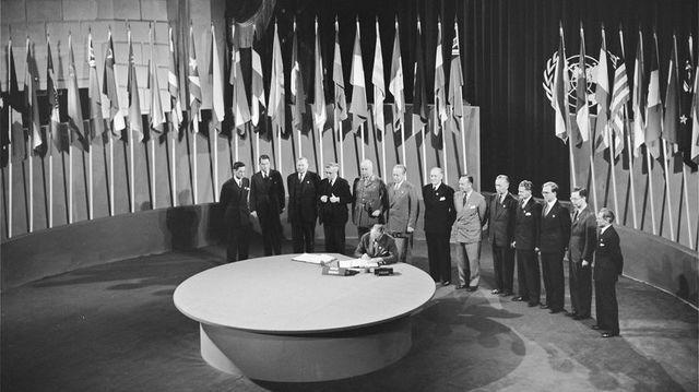 Firma de la Carta de la Organización de las Naciones Unidas ONU