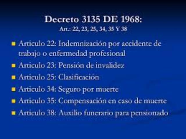 Expedición del Decreto 3135