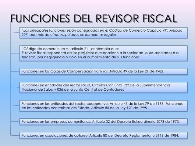 Régimen Propio De Funciones Para Los Revisores Fiscales