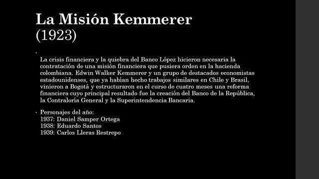 La Misión Kemmerer de 1923