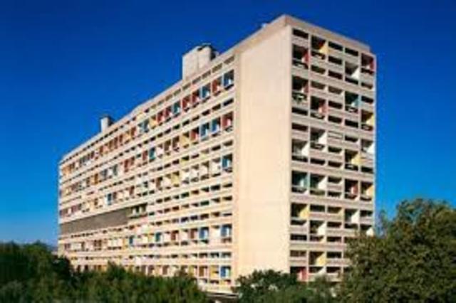 Unité d'Habitation a Marsiglia, Francia, 1947-1952