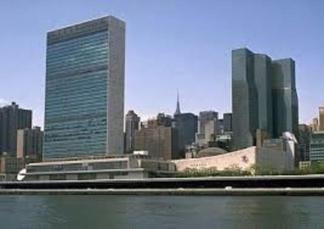 Edificio ONU, new York, Stati Uniti, 1947