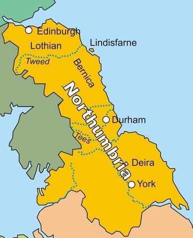 The Vikings take Northumbria