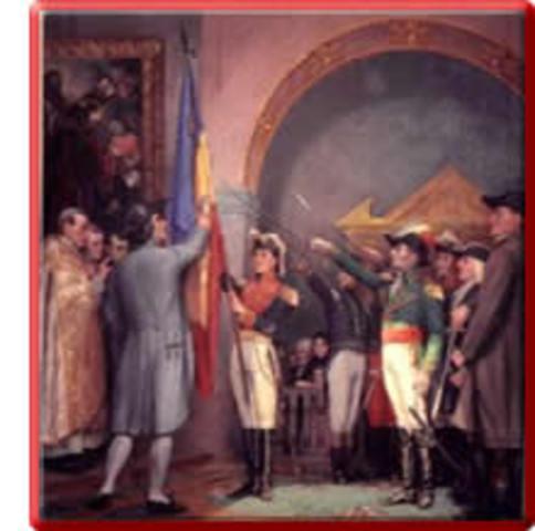 Antioquia, Cartagena Pamplona, Neiva y Tunja se unen como Provincias Unidas de Nueva Granada.